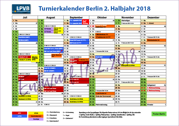Turnierkal Berlin 2018 2